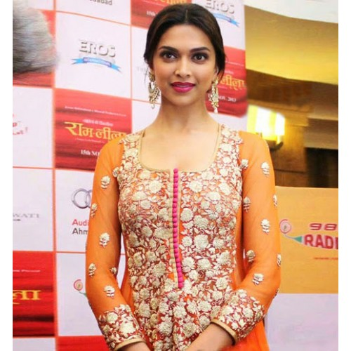 Deepika Orange Suit