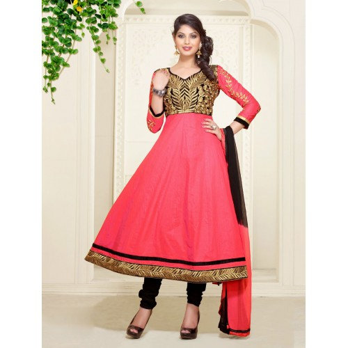 Hot Pink Anarkali Suit
