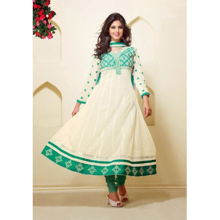 Off White Anarkali Suit