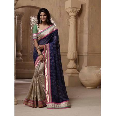 Violet Designer Saree