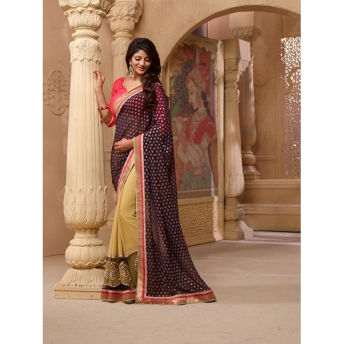 Golden Designer Saree