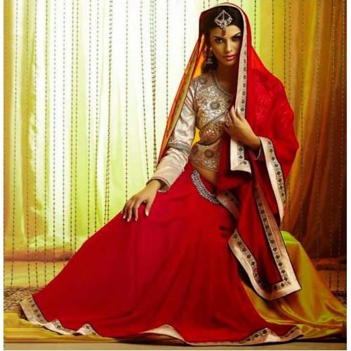 Red Designer Saree