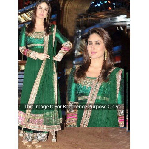 Kareena Green Anarkali Designer Suit