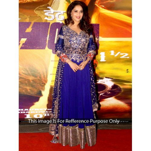 Madhuri Blue Anarkali Suit
