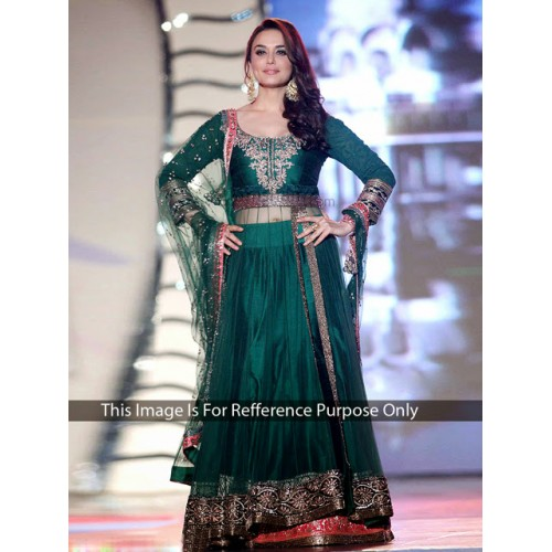 Preity Green Designer Lehanga Set