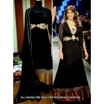 Madhuri Black Anarkali Suit