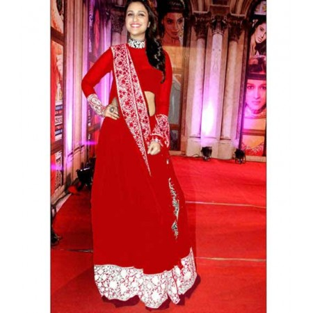 Parineeti Chopra Red Designer Suit