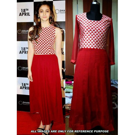 Alia Red Designer Suit