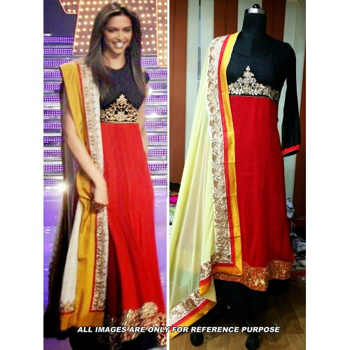 Deepika Red Designer Suit