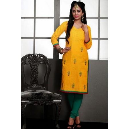 Yellow Designer Kurti