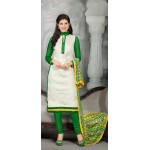 Green & White Designer Suit