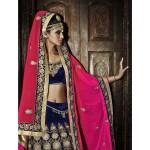 Pink & Blue Designer Lehanga