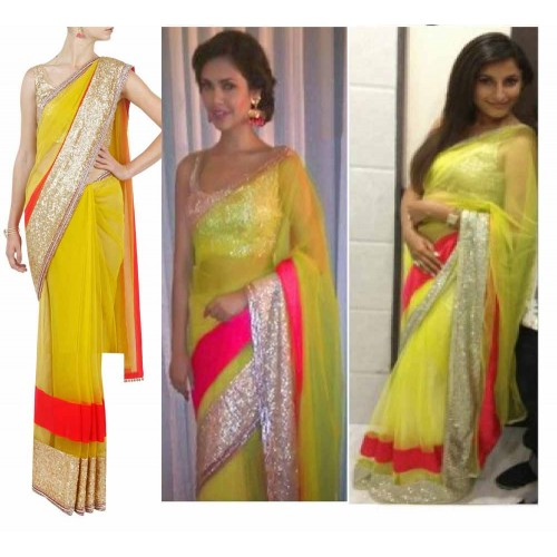 Yellow Designer Saree