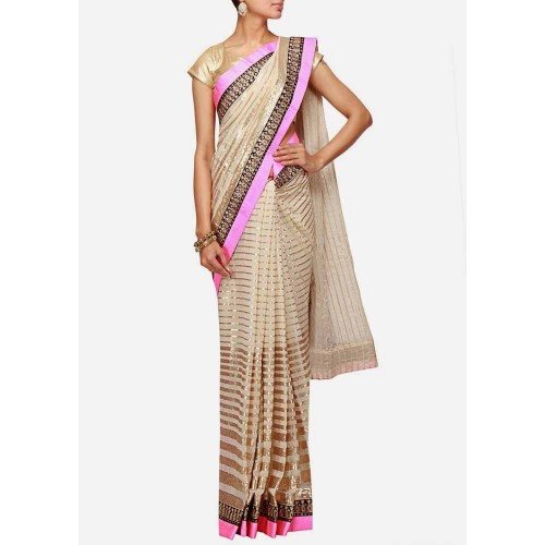 Off White Designer Saree