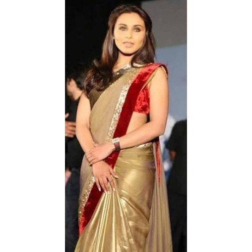 Golden and Red Designer Saree