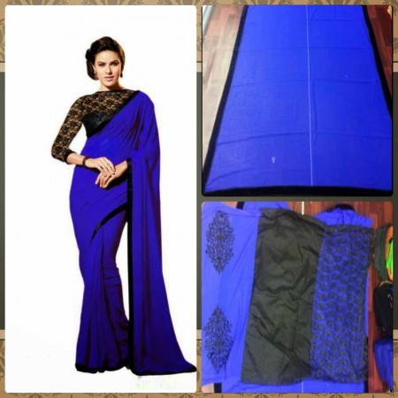 Blue Designer Saree